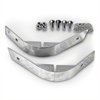 Rugged Ridge Short Corner Guards Pair, Stainless Steel (87-95 Wrangler YJ) - Rugged Ridge 11110.01