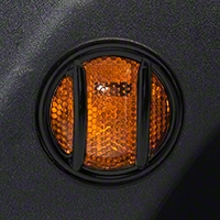Rugged Ridge Side Marker Light Guards, Black (07-13 Wrangler JK) - Rugged Ridge 11231.12
