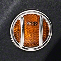 Rugged Ridge Side Marker Light Guards, Stainless Steel (07-16 Wrangler JK) - Rugged Ridge 11142.12