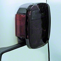 Rugged Ridge 2 Smoke Plastic Molded Taillight Covers (87-06 Wrangler YJ & TJ) - Rugged Ridge 11354.01