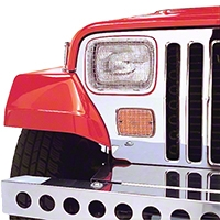 Rugged Ridge Stainless Steel Stone Guard Set for Lights (87-95 Wrangler YJ) - Rugged Ridge 7425