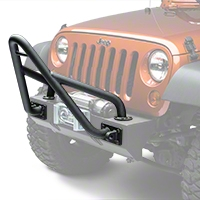 Rugged Ridge Stinger -  Black Textured w/ Xtreme Heavy Duty Bumper (87-13 Wrangler YJ, TJ & JK) - Rugged Ridge 11540.13
