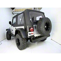 Rugged Ridge 2 Black Plastic Tall Corner Rear Body Armor (97-06 Wrangler TJ) - Rugged Ridge 11650.01