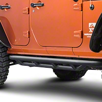 Rugged Ridge Textured Black Side Armor Nerf Bars (07-13 Wrangler JK 4 Door) - Rugged Ridge 11504.2