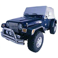 Rugged Ridge Water Resistant Cab Cover, Gray (92-06 Wrangler YJ & TJ) - Rugged Ridge 13316.09
