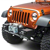 Rugged Ridge Winch Mount Modular XHD Front Bumper, Textured Black (07-13 Wrangler JK) - Rugged Ridge 11540.1