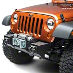 Rugged Ridge Winch Mount Modular XHD Front Bumper, Textured Black (07-15 Wrangler JK) - Rugged Ridge 11540.1