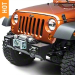 Rugged Ridge Winch Mount Modular XHD Front Bumper, Textured Black (07-16 Wrangler JK) - Rugged Ridge 11540.10