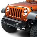 Rugged Ridge XHD Short Front Light Mount Bumper Base w/Black D-Rings, Textured Black (07-13 Wrangler JK) - Rugged Ridge 11540.11