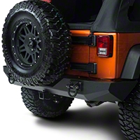 Rugged Ridge Xtreme Heavy Duty Rear Bumper, Textured Black (07-13 Wrangler JK) - Rugged Ridge 11546.2