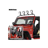 Warrior Products Safari Front Light Bar (87-95 Wrangler YJ) - Warrior Products 844