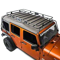 Warrior Products Safari Sport Rack w/ One Piece Basket (07-13 Wrangler JK 4 Door) - Warrior Products 879
