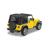 Bestop Sailcloth Replace-A-Top w/ Tinted Windows, Black Vinyl (97-02 Wrangler TJ w/Full Steel Doors) - Bestop 79139-01