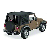 Bestop Sailcloth Replace-A-Top w/ Tinted Windows, Black Diamond (03-06 Wrangler TJ w/Full Steel Doors) - Bestop 79141-35