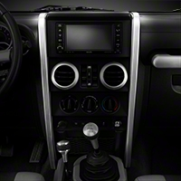 Rugged Ridge Silver Center Dash Accent - Pair (07-10 Wrangler JK) - Rugged Ridge 11151.14
