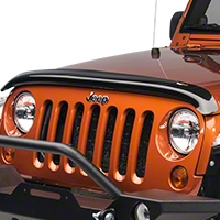 Rugged Ridge Smoked Bug Deflector (07-16 Wrangler JK) - Rugged Ridge 11350.02