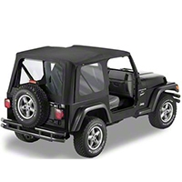 Bestop Replace-A-Top w/ Clear Windows, Black Denim (97-02 Wrangler TJ w/Full Doors) - Bestop 51127-15