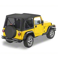 Bestop Replace-A-Top w/Tinted Windows, Black Denim (97-02 Wrangler TJ w/Full Steel Doors) - Bestop 51180-15