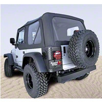 Rugged Ridge Soft Top w/ Clear Windows & Door Skins, Black Diamond (03-06 Wrangler TJ) - Rugged Ridge 13707.35