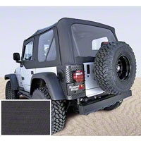 Rugged Ridge Soft Top w/ Tinted Windows & No Door Skins, Black Denim (97-02 Wrangler TJ) - Rugged Ridge 13706.15
