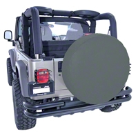 Rugged Ridge Spare Tire Cover For 30 - 32 in. Tire, Black Denim (Universal Application) - Rugged Ridge 12802.15