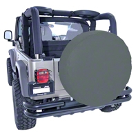 Rugged Ridge Spare Tire Cover for 33 inch Tires, Black Denim (Universal Application) - Rugged Ridge 12803.15