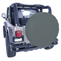 Rugged Ridge Spare Tire Cover For 35-36in Tires, Black Denim (Universal Application) - Rugged Ridge 12804.15