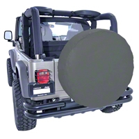 Rugged Ridge Spare Tire Cover For 35-36in Tires, Black Diamond (Universal Application) - Rugged Ridge 12804.35