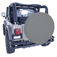 Rugged Ridge Spare Tire Cover for 33 inch Tires, Gray (Universal Application) - Rugged Ridge 12803.09