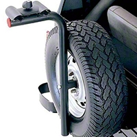 Rugged Ridge Spare Tire Mount Bike Carrier w/ offset of 2.63in - 6in (87-02 Wrangler YJ & TJ) - Rugged Ridge 11237.1