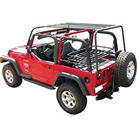 Olympic 4x4 Sports Rack, Rubicon Black (97-06 Wrangler TJ) - Olympic 4x4 901-124