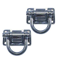 Rugged Ridge Stainless D-Rings Pair w/ Xtreme Heavy Duty Bumper (87-09 Wrangler YJ, TJ & JK) - Rugged Ridge 11540.17