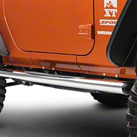 Rugged Ridge Stainless Steel 4in. Oval Nerf Bars (07-13 Wrangler JK 2 Door) - Rugged Ridge 11593.07