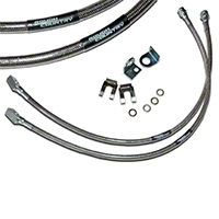 Rough Country Front Brakelines, Stainless Steel (87-06 Wrangler YJ & TJ) - Rough Country 89702