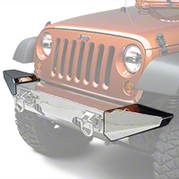 Rugged Ridge Stainless Steel Bumper Ends w/ Xtreme Heavy Duty Bumper (07-13 Wrangler JK) - Rugged Ridge 11540.19