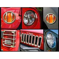 Rugged Ridge Stainless Steel Euro Guard Light Kit, 17 Piece (07-14 Wrangler JK) - Rugged Ridge 12496.11