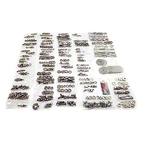 Totally Stainless Fastener Kit, Stainless Steel (87-95 Wrangler YJ w/ Hard Top) - Totally Stainless 62406