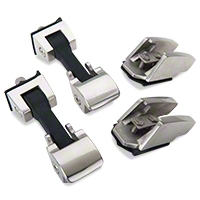 Rugged Ridge Stainless Steel Hood Catch Set (07-08 Wrangler JK) - Rugged Ridge 11116.06