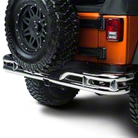 Rugged Ridge Rear Tube Bumper, Stainless Steel (07-13 Wrangler JK) - Rugged Ridge 11573.1