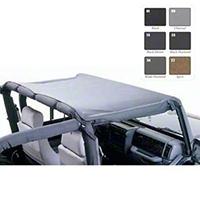 Smittybilt Standard Brief Top, Black Denim (92-95 Wrangler YJ) - Smittybilt 92815