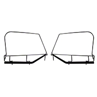 Rugged Ridge Steel Upper Door Skin Frames (97-06 Wrangler TJ w/ Soft Top Installed) - Rugged Ridge 13703.8