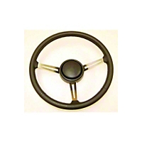 Omix-ADA Steering Wheel Kit w/ Leather Trim & Horn Button Cap (87-95 Wrangler YJ) - Omix-ADA 18031.08