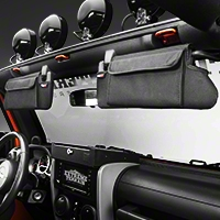 Rugged Ridge Sun Visor Organizer - Pair (07-09 Wrangler JK) - Rugged Ridge 13305.07