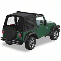 Bestop Sunrider Top, Black Diamond (03-06 Wrangler TJ) - Bestop 51719-35