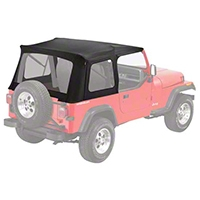 Bestop Supertop Replacement Skin, Black Denim (87-95 Wrangler YJ) - Bestop 55799-15