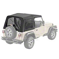 Bestop Supertop Replacement Skin w/ Tinted Windows (97-02 Wrangler TJ) - Bestop 55629-15