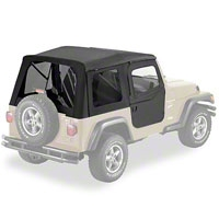 Bestop Supertop w/ 2pc Soft Doors & Tinted Window, Denim Black (97-06 Wrangler TJ) - Bestop 54713-15