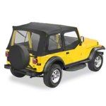 Bestop Supertop, Black Denim (88-95 Wrangler YJ, Steel Half Doors) - Bestop 51600-15