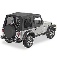 Bestop Supertop w/ Tinted Windows, Black Denim (97-06 Wrangler TJ w/Half Doors) - Bestop 54710-15