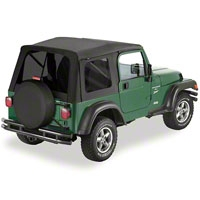 Bestop Supertop w/ Tinted Windows, Black Denim (97-06 Wrangler TJ w/Full Doors) - Bestop 54709-15